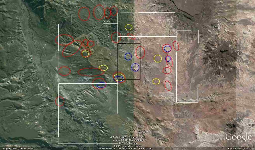 Google Earth Radiometric Anomaly Map